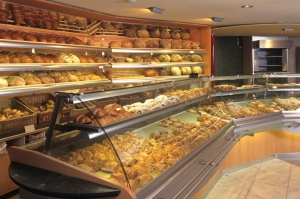 Bakery display case area