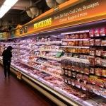 Promolux friss élénk színek egy multi-deck hús esetében