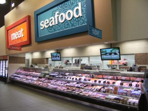 Merchanding Service Meat and Seafood Cases at Longos Bros Supermarket