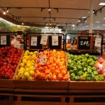 Colorful eye catching produce displays