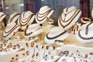gold jewelry, selling in the market, luxurious gold counter, A beauty and luxury for a gift woman
