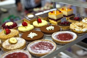 Baked Goods on Display in Bakery