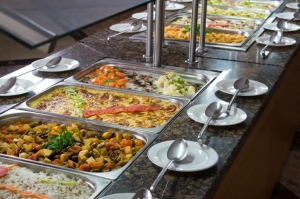 Prepared food buffet display