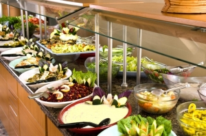 Salad on Buffet Line Food Service Display