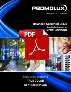 Promolux catalog of LED products for non-food retail displays