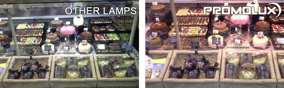 Regular lighting just doesn't compete against the superior sales results you get with Promolux lighting.