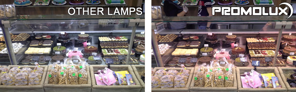 Increase sales with superior lighting from Promolux Lamps in your baked goods displays