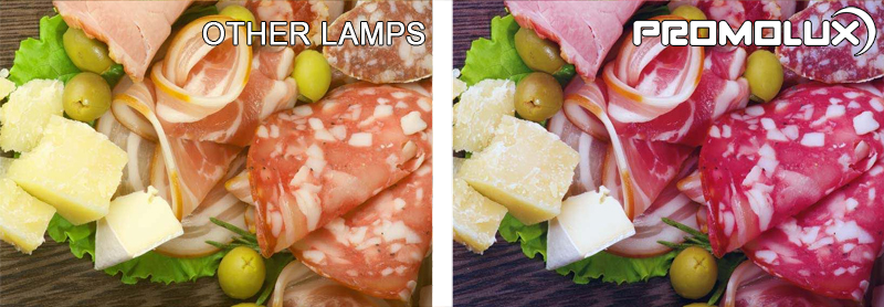 Convenience Store Meat and Deli Display Case Lighting – With our side by side comparison, you can see the difference between Promolux LED lights and normal lights for meatand deli case displays.