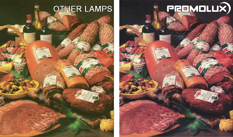 Convenience Store Meat and Deli Display Case Lighting – With our side by side comparison, you can see the difference between Promolux LED lights and normal lights for meat and deli case displays.