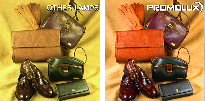 Non-Perishable Lighting for Retail Leather Goods. Retail Display Lighting. Display your leather products, such as shoes, handbags, jackets, purses and gloves, with superior Promolux LED lighting.